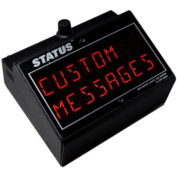 STATUS | MIDI Display, Clock, and Mapper | StepAudio net | Patented